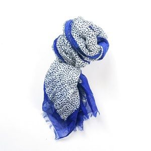 Accessories - Spotted scarf with blue border